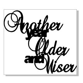 ANOTHER YEAR OLDER AND WISER 48 X 43 pack 10